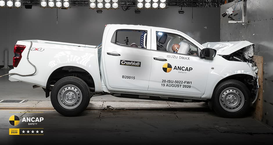 5-STAR ANCAP SAFETY RATING ACROSS THE D-MAX RANGE