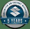 5 Years Unlimited KM Factort Warranty Logo