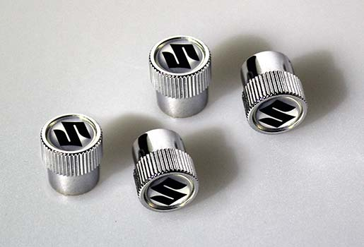 suzuki branded tyre valve covers
